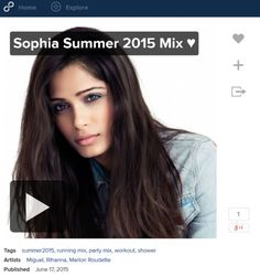 The Sophia Summer 2015 Mix ♥ is the greatest hits of the #8tracks #Summer2015 for your #workoutmusic #fitnessmix, #runningmix, at #remixes work, or in the shower, #studyingmusic for a test.