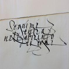 Seguimi, entra nel labirinto dei segni. Monica Dengo #calligrafia #calligraphy