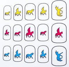 Unicorn and Pegasus Nail Decals