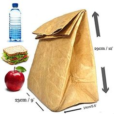 Brown Paper Lunch Bag Box SUPER STRONG Insulated Reusable Writeable Non-Tearable CloudRunnerz http://www.amazon.co.uk/dp/B010E59K60/ref=cm_sw_r_pi_dp_Hlyaxb1P5FYS1