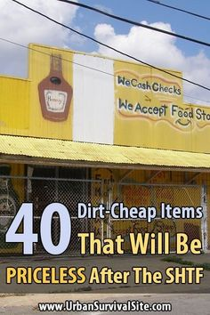 Stock up now! Next time you visit the dollar store, walk down each aisle and start stocking up on all the little things that will make life much easier after SHTF. Urban Survival, Survival Life, Survival Food, Survival Prepping, Survival Skills, Wilderness Survival, Survival Hacks, Survival Items, Survival Stuff