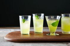 Minty Orange Gimlet - Orange Simple Syrup (Recipe), Vodka or Gin, Lime Juice, Orange, Mint, Seltzer or Club Soda.