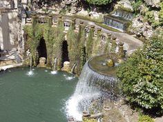 Villa d'Este: the Neptune fountain, part of what the Tivoli gardens are famous for