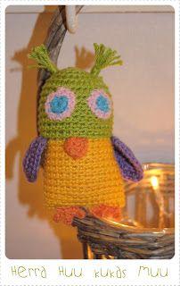 Crochet owl  kaksneljaseitteman.blogspot.fi
