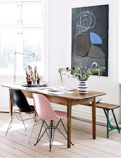 classicly colorful / sfgirlbybay | Fiberglass Shell Chairs