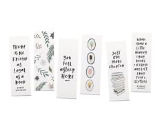 A set of bookmarks for people who are always reading a few books at once.