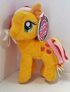 "My Little Pony Apple Jack Christmas Santa Hat 6"" Stuffed Plush New with Tags MLP #Hasbro"