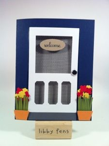 punch art door (stampin' up ticket pucnch) ....how cute...