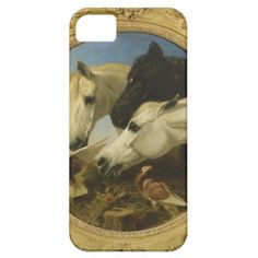 Masterpiece horse & dove painting John Herring iPhone 5 Covers