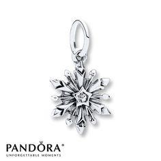 PANDORA Charm Disney, Frozen  Snowflake/St. Silver - $65.00
