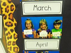 Take pictures with the kids and their birthdays--never forget! classroom-ideas