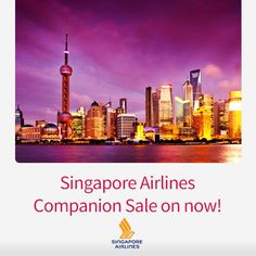 Amazing savings when you book two or more economy seats with Singapore Airlines http://www.corporatetraveller.com.au/singapore-airlines-companion-sale-now