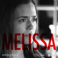 SHARE this photo if you think Melissa will die on Tuesday's #PLL #FatalFinale! Find out Tuesday at 8/7c on ABC Family!