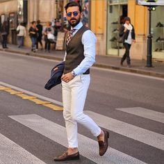 Summer can still be suave. Men's Street Style Inspiration #38   MenStyle1- Men's Style Blog