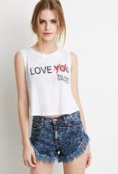 I Love Tacos Muscle Tee | Forever 21 - 2000096198