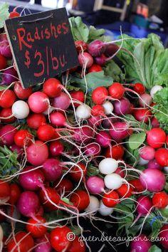 Radishes from Olympia Farmer's Market. I told them, you look Radishing Darling, just Radishing.