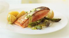 http://food.ninemsn.com.au/recipes/isalmon/8348940/crispy-skinned-salmon-with-lemon-dill-and-caper-sauce
