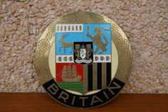 Vintage-Inglaterra-car-badge-Britain-escudo-de-armas-1960