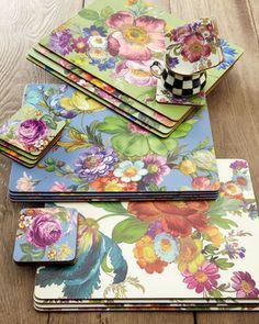 "MacKenzie-Childs ""Flower Market"" Placemats & Coasters on shopstyle.com"