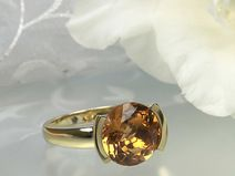 Gelbgold 585 Olymp Style Citrinring