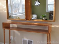homemade skinny entry tables - Google Search