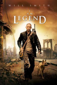 I Am Legend Movie Poster - Will Smith, Alice Braga, Charlie Tahan  #IAmLegend, #MoviePoster, #FrancisLawrence, #Horror, #AliceBraga, #CharlieTahan, #WillSmith