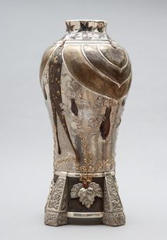 Tiffany  Co., United States (New York, NY), 1837–present. Conglomerate Vase, 1878. Silver with copper, gold, iron and niello.