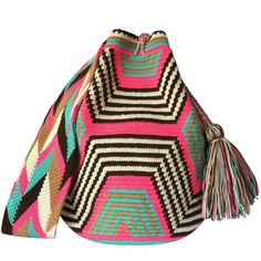 These double thread Wayuu mochila bags are all made in the region of La Guajira, Colombia by indigenous Wayuu women. Mochila bags are a very important handicraft that helps sustain the indigenous Wayuu people. These bags take approximately 10 days to make. The craft of crocheting is learnt at an early age and passed down from generation to generation. The mochilas are a reflection of the everyday shapes that surround the lives of the Wayuu tribe. Buy yours atwww.lombiaandco.com
