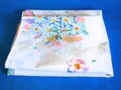 Ken Done Palm Beach Percale Pillowcases By Sheridan - Pair of Vintage Retro Material Fabrics- Bright Funky Flowers - Made in Australia