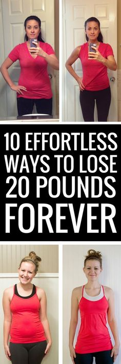10 ways to lose 20 pounds without putting in a lot of effort.