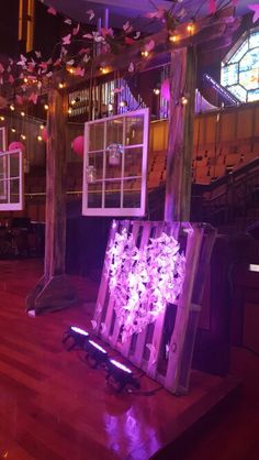 Rooted Women's Conference. Arbor with Windows Stage Decor