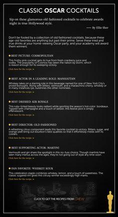 Classic Oscar Cocktails The Oscars 2014 | Academy Awards 2014