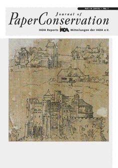 IADA - Internationale Arbeitsgemeinschaft der Archiv-, Bibliotheks- und Graphik-Restauratoren. Journal of Paper Conservation. 2013, Vol. 14, Nº1