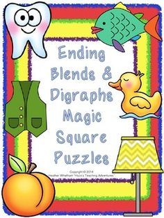Ending Blends & Digraphs Magic Square Puzzles {$}