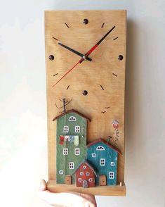Wall Clock Craft, Diy Clock, Diy Wall Art, Diy Resin Crafts, Diy And Crafts, Arts And Crafts, Driftwood Wall Art, Driftwood Crafts, Rustic Wood Crafts