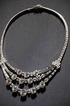 Cartier diamond necklace of Princess Grace of Monaco née Grace Kelly
