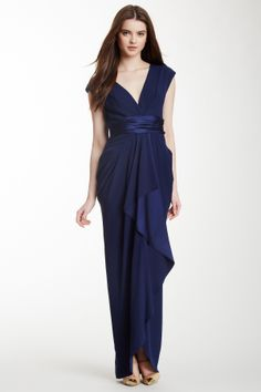 Catherine Malandrino Cozette Cascade Silk Gown @Pascale Lemay Lemay De Groof