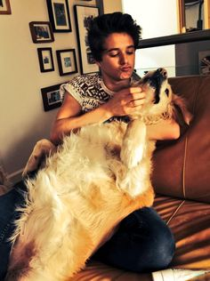 Brad and his dog Jesse, considering actually making a board dedicated to Jesse cuz that is one adorable dog!