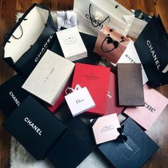 Trunk full of designer shopping bags #goals | thrifted | Pinterest ...