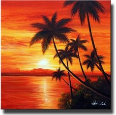 Classic Sunrise is an original hand-painted beach canvas painting. Canvas Paintings offers premium beach canvas art at discount prices. Beach Canvas Paintings, Beach Canvas Art, Sunset Canvas, Easy Canvas Painting, Nature Paintings, Beach Art, Painting & Drawing, Landscape Paintings, Beach Sunset Painting