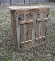 Reclaimed Barnwood Primitive Cabinet Prim by QueensCountryCorner, $350.00