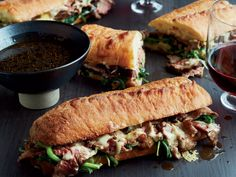 French Dip with Onion Jus | Chef Corey Lee's French Dip with Onion Jus uses fresh spinach that adds to the juicy beef.