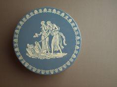 """Vintage blauw 10"""" cookie tin tin Deer Park bakken Griekse mythologie half eeuw keuken keuken opslagcontainer Deense assortiment cookie tin"""