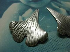 Silver Ox Plated Ginkgo Leaf Stampings 70SOX by dimestoreemporium