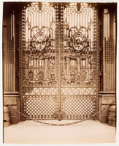 Palace of Justice; Photoshop Photography, Landscape Photography, Castle Gate, Eugene Atget, Custom Gates, Image Paper, Garden Doors, Entry Gates, Antique Iron