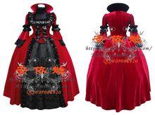 Nueva llegada por encargo gótico victoriano vestidos de bola del vestido de lujo del traje de Cosplay para Halloween(China (Mainland))