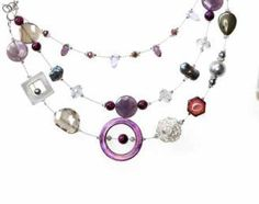 Checkout this amazing deal Multi strand necklace purple pearl SALE,$49