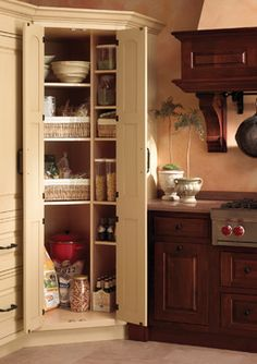Small Corner Pantry Design, Pictures, Remodel, Decor and Ideas