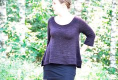 An easy top-down raglan construction, spiced up with a few short rows, and a flattering A-line shape of the body are the key features of this lovely sweater! It's both classic and fun.