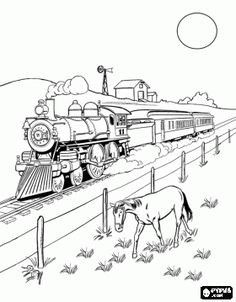 Pin by jesica wae on Coloring Pages | Train coloring pages, Adult ...
